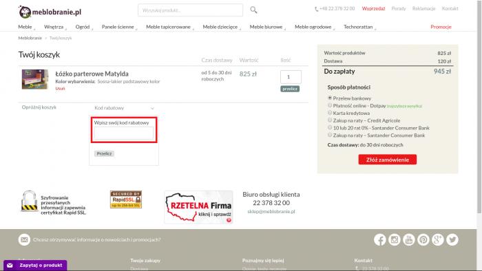 6000d83c96fbef Kody rabatowe w Meblobranie.pl Promocje lipiec 2019 - Kod-rabatowy.pl